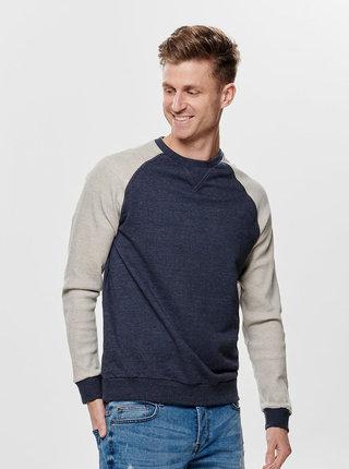 Bluza sport gri-albastru ONLY & SONS Raglan