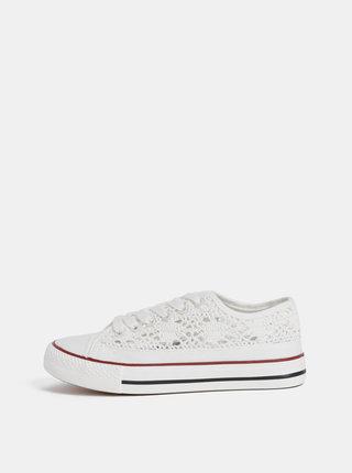 Bílé dámské háčkované tenisky Haily´s Lacy