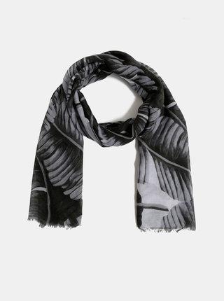Černý vzorovaný šátek Haily´s Kimmy