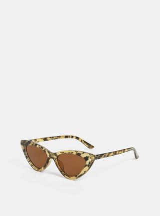 Hnedé dámske vzorované slnečné okuliare Haily´s Jessy