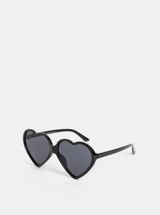 Čierne dámske slnečné okuliare Haily´s Hearty