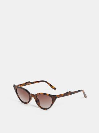 Hnedé dámske vzorované slnečné okuliare Haily´s Gaily