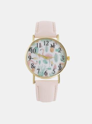 Dámské hodinky se světle růžovým páskem Haily´s Lilly