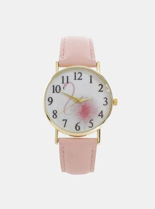 Dámské hodinky s růžovým páskem Haily´s Lilly
