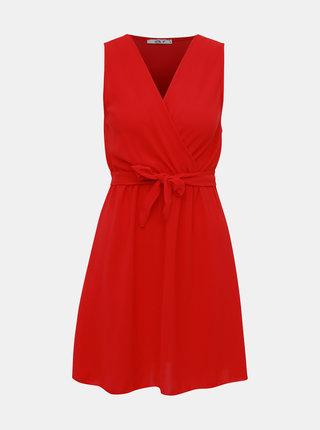 Červené šaty s páskem Haily´s Valentina