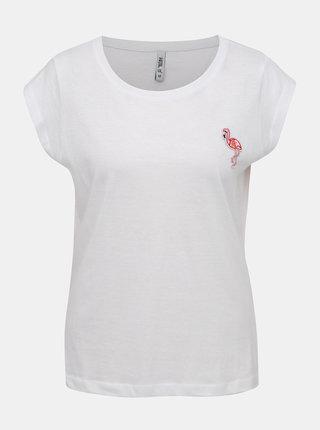 Bílé dámské tričko s nášivkou Haily´s Kina