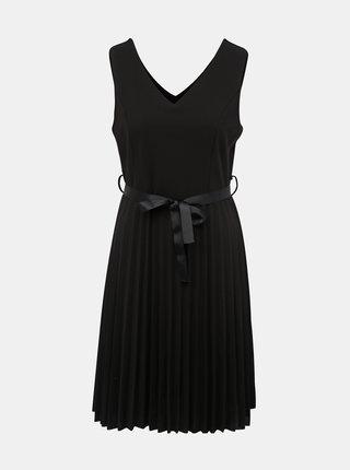 Černé šaty s plisovanou sukní Haily´s Saby
