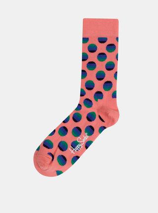 Rúžové dámske bodkované ponožky Happy Socks