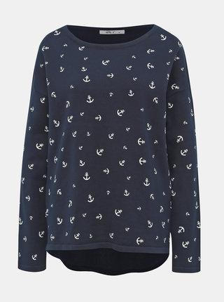 Tmavě modrý dámský vzorovaný svetr Haily´s Nellie