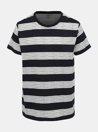 Bielo-šedé pánske vzorované tričko Haily´s Frank