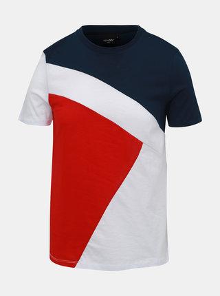 Modro-červené pánske tričko Haily´s Marius