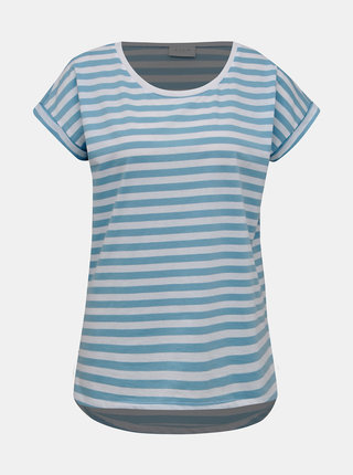 Bielo-modré pruhované basic tričko VILA Dreamers
