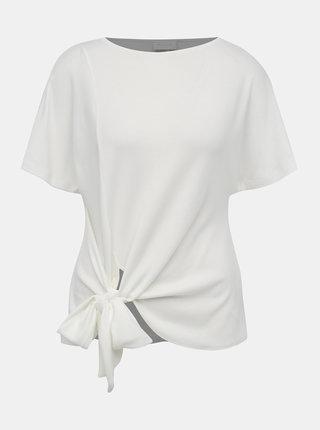 Krémové tričko s mašlí VILA Namina