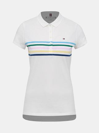 Bílé dámské slim fit polo tričko Tommy Hilfiger