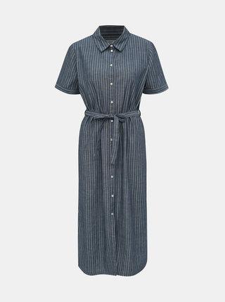 Tmavomodré pruhované košeľové šaty Jacqueline de Yong Leila
