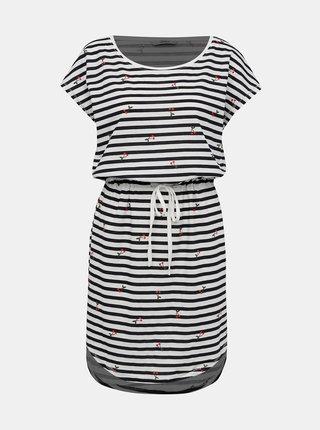 Čierno-biele pruhované šaty Only
