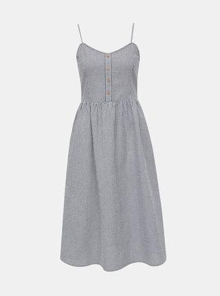 Bílo-šedé pruhované šaty na ramínka Jacqueline de Yong Karim