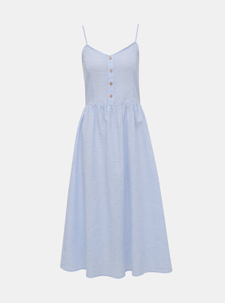Bielo-modré pruhované šaty na ramienka Jacqueline de Yong Karim