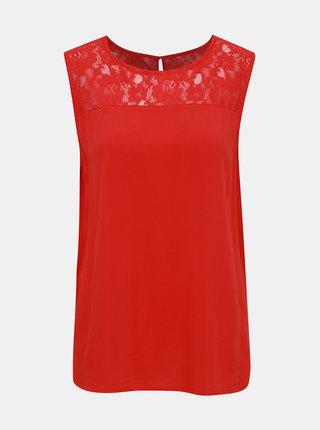 Červený top s krajkou Jacqueline de Yong Famous
