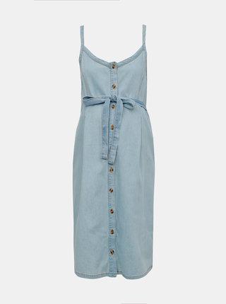 Svetlomodré rifľové tehotenské šaty Mama.licious