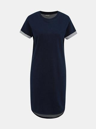 Tmavě modré mikinové basic šaty Jacqueline de Yong Ivy