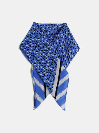 Modrá vzorovaná šatka Pieces Chia