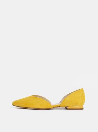 Žluté semišové baleríny Högl Tenderly