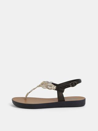 Sandály v černo-zlaté barvě Grendha Sonhadora