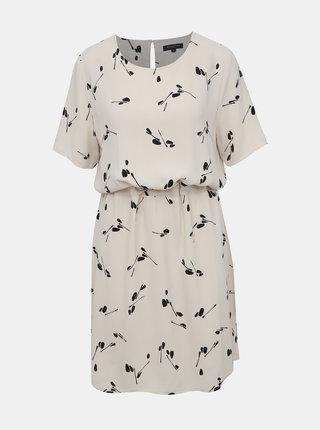 Krémové vzorované šaty Selected Femme Tanna