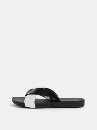 Bílo-černé pantofle Zaxy Check