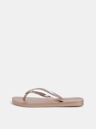 Žabky v rúžovozlatej farbe Ipanema Glam