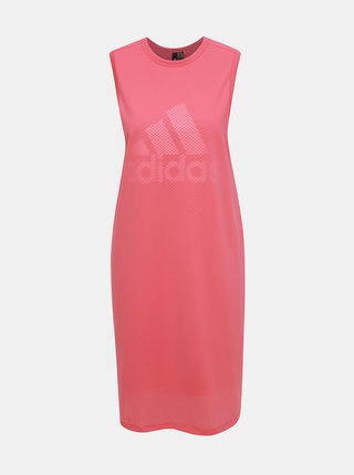 Rúžové šaty adidas Performance