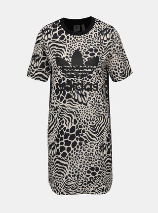 Černo-krémové šaty s gepardím vzorem adidas Originals