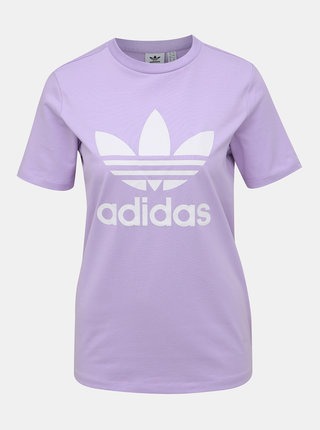 Svetlofialové dámske tričko s potlačou adidas Performance