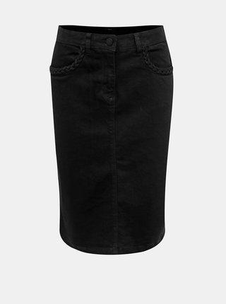 Černá džínová sukně M&Co