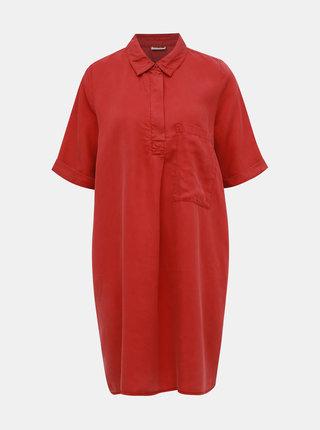 Tehlové košiľové šaty s vreckom Noisy May Carly