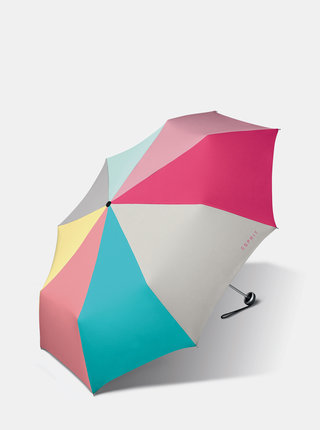 Růžovo-šedý deštník Esprit Minu ALU