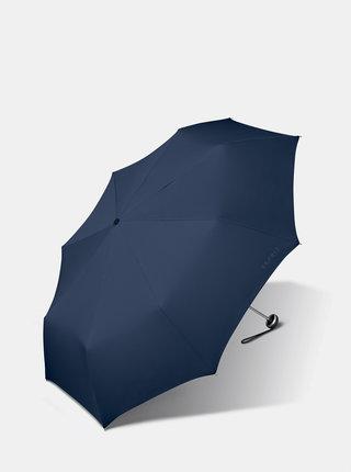 Tmavě modrý skládací deštník Esprit Mini ALU