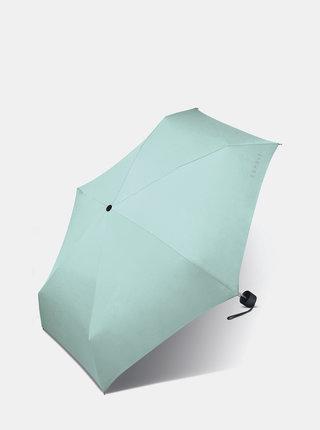 Světle modrý skládací deštník Esprit Petito