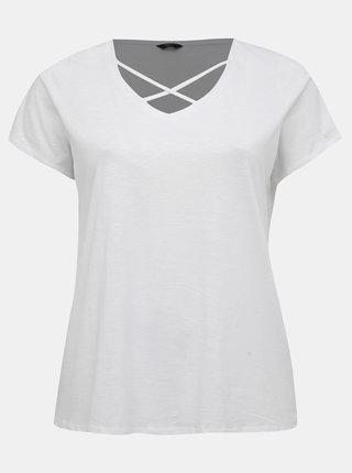 Bílé dámské tričko M&Co Plus