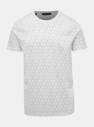 Biele vzorované tričko Selected Homme Aiden