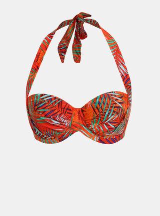 Oranžový dámsky vzorovaný horný diel plaviek M&Co