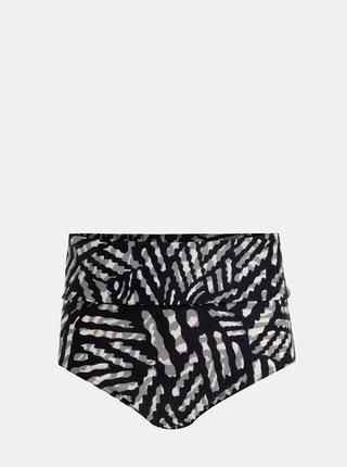 Černý dámský vzorovaný spodní díl plavek M&Co