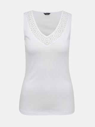 Bílé dámské tílko s krajkou M&Co