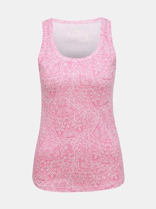 Rúžové dámske vzorované tielko M&Co