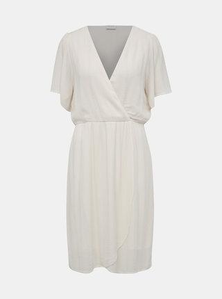 Krémové šaty VILA Skum