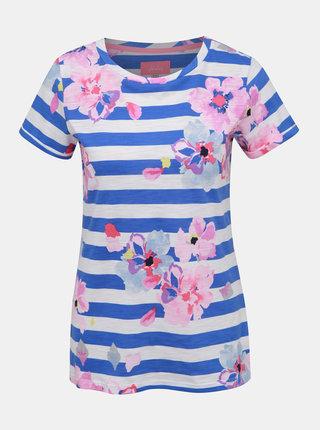 Bílo-modré dámské vzorované tričko Tom Joule Nessa