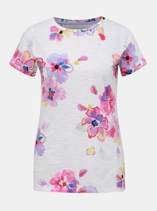Biele dámske kvetované tričko Tom Joule Nessa