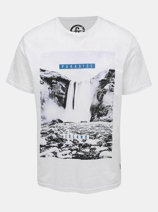 Biele tričko s potlačou ONLY & SONS Pompey