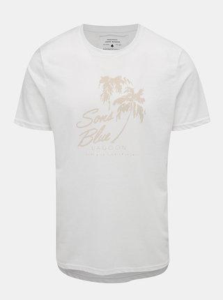 Biele tričko s potlačou ONLY & SONS Next Burnout